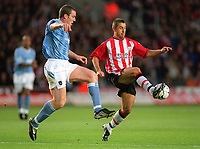 Richard Dunne (City) Kevin Phillips (Southampton). Southampton v Manchester City. 1/11/2003. Credit : Colorsport/Andrew Cowie.