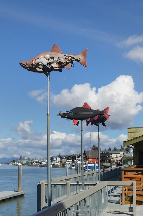 Fish sculpture, La Conner Washington