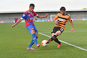 Luke Gambin of Barnet and Kane Ferdinand of Dagenham and Redbridge  during the Sky Bet League 2 match between Barnet and Dagenham and Redbridge at Hive Stadium, London, England on 26 September 2015. Photo by Ian Lyall.