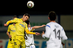 Tadej Apatic of Domzale vs Goran Galesic of Gorica during football match between NK Domzale and HIT Gorica of 25th Round of PrvaLiga, on April 1, 2011, in Sports park Domzale, Slovenia. (Photo by Vid Ponikvar / Sportida)