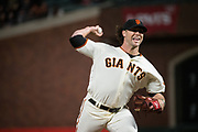 San Francisco Giants relief pitcher Hunter Strickland (60) pitches against the Cincinnati Reds at AT&T Park in San Francisco, California, on May 11, 2017. (Stan Olszewski/Special to S.F. Examiner)