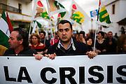 A demonstration against the crisis in Arcos de la Frontera, Spain.
