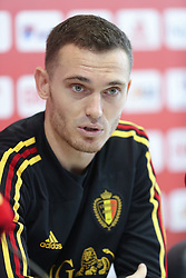 July 8, 2018 - Dedovsk, RUSSIA - Belgium's Thomas Vermaelen pictured during a press conference of Belgian national soccer team the Red Devils in Dedovsk, near Moscow, Russia, Sunday 08 July 2018. The Devils qualified for the semi-finals of the FIFA World Cup 2018, next Tuesday they will meet France. BELGA PHOTO BRUNO FAHY (Credit Image: © Bruno Fahy/Belga via ZUMA Press)
