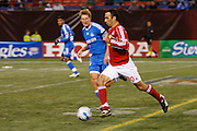 Saturday October 14th 2006. .Giants Stadium, East Rutherford, New Jersey. United States..Red Bulls French soccer player Youri Djorkaeff against Kansas City at the Giants Stadium. This game could have been be his last one as a professional player if the Red Bulls didn't win 3-2.