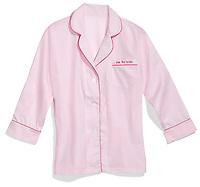kiss the bride pink pajama top