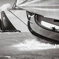 SKS Skûtsjesilen zaterdag 6 augustus 2016 op het IJsselmeer bij Stavoren.