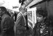 Kelly on Tube Platform, Victoria, London. 1980s.