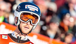 29.01.2017, Casino Arena, Seefeld, AUT, FIS Weltcup Nordische Kombination, Seefeld Triple, Skisprung, im Bild Tim Hug (SUI) // Tim Hug of Switzerland reacts after his Competition Jump of Skijumping of the FIS Nordic Combined World Cup Seefeld Triple at the Casino Arena in Seefeld, Austria on 2017/01/29. EXPA Pictures © 2017, PhotoCredit: EXPA/ JFK