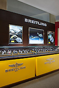 Interior image of Breitling  retail display at jewelery store by Jeffrey Sauers of Commercial Photographics