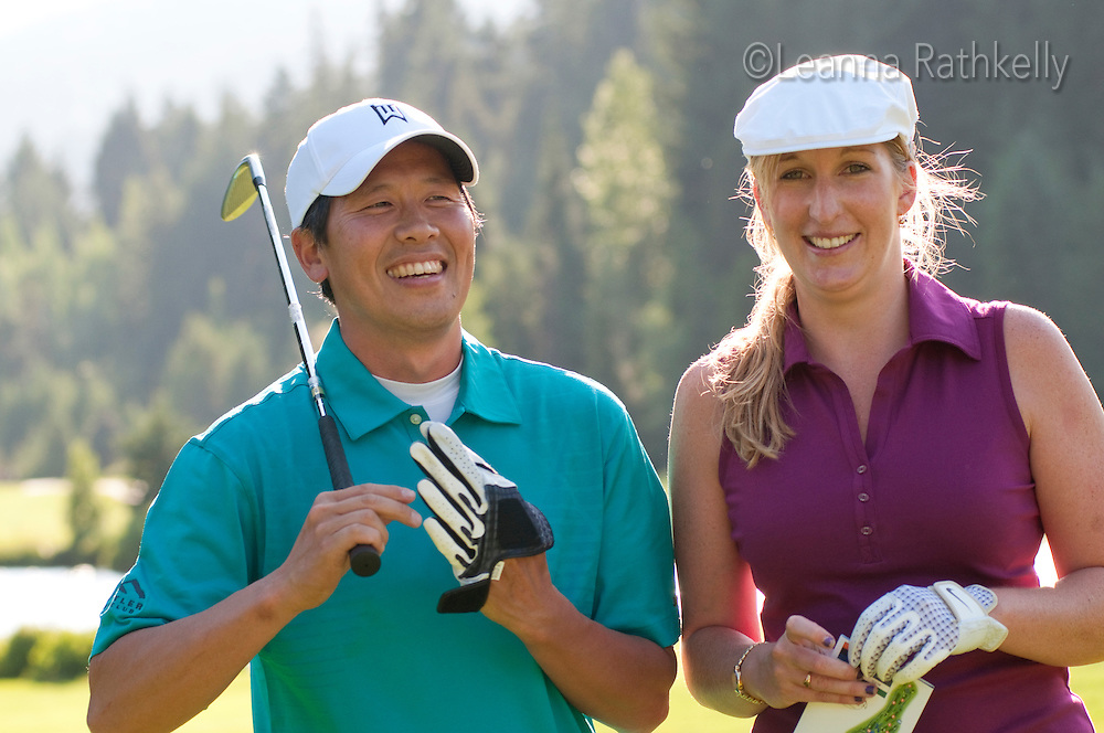 Shimmy and Jamie discuss and laugh about their round at the Whistler Golf Course.