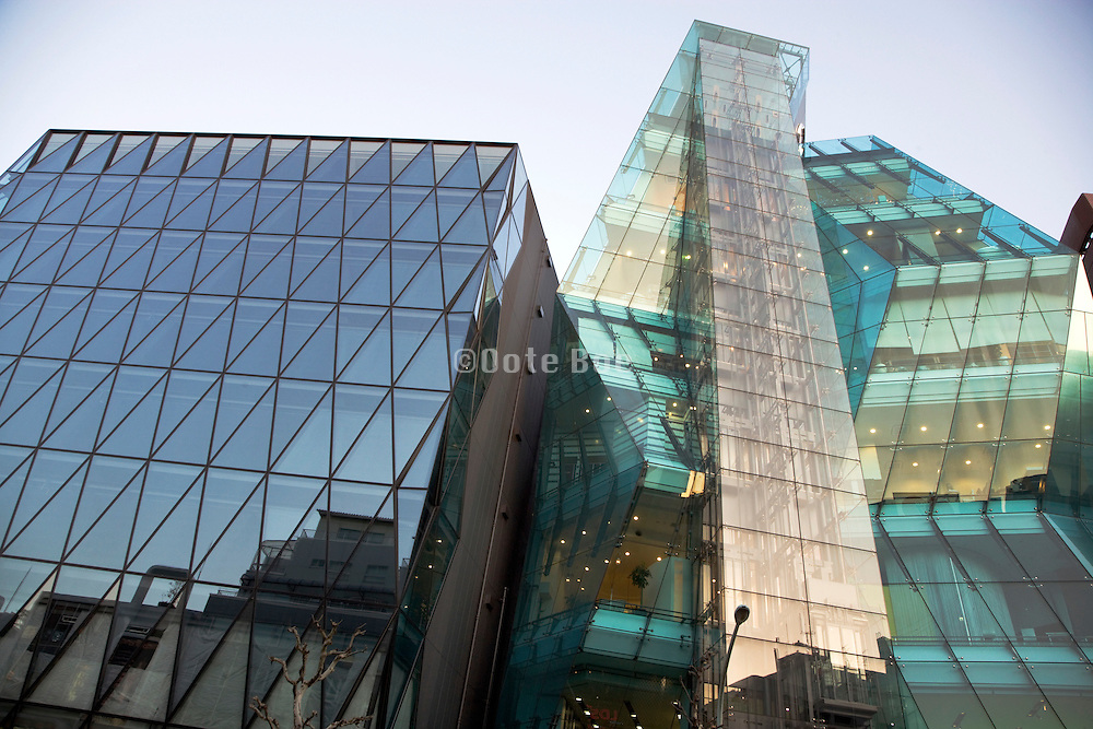 Audi Forum called The Iceberg building in Shibuya Tokyo