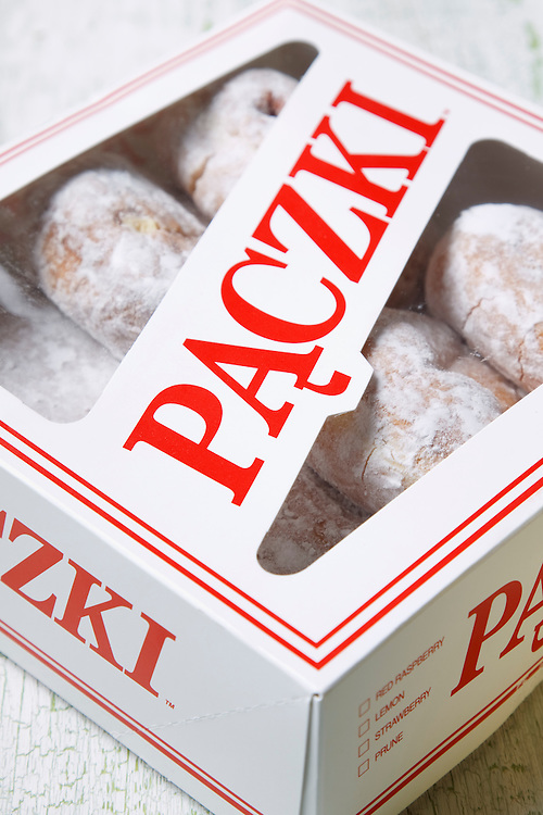 Paczki (punch-key) Donuts a fat Tuesday treat.
