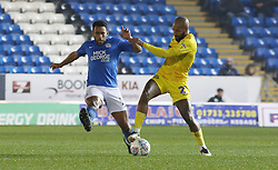 Nathan Thompson of Peterborough United in action with Josh Parker of Wycombe Wanderers - Mandatory by-line: Joe Dent/JMP - 21/01/2020 - FOOTBALL - Weston Homes Stadium - Peterborough, England - Peterborough United v Wycombe Wanderers - Sky Bet League One