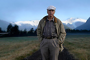 Nature conservationist Douglas Tompkins posses for a portrait at his nature reservation park near to Chaiten city, 1225 km south Santiago, Chile on Friday 22, February 2008. Former US business man, Douglas Tompkins was the founder and owner of the fashion house Esprit, since 18 years he is living Southern Chile buying forests and protecting them. They principal conservationist project is the Pumalin Park, a private reserve whit 320.000 ha now whit Nature Sanctuary status. Tompkins supports The Conservation Land Trust (a U.S. environmental foundation) that now finds buy more lands to protect in Chile and Argentina... .