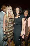 l to r: Dennis White, Aubrey O'Day, Egypt and Naturi Naughton at The 2009 Fall Baby Phat Fashion Show held at Gotham Hall on February 17, 2009 in New York City.