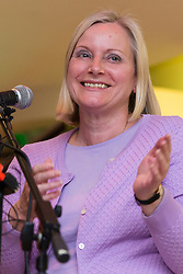 © Licensed to London News Pictures. 01/05/2015. London, UK. NEC Labour Party, Christine Shawcroft speaking at a public meeting held at the Waterlily in Stepney, east London on 30th April 2015. The meeting was ex Mayor of Tower Hamlets, Lutfur Rahman's first public appearance after being found guilty of electoral fraud last week and called for attendees to donate money to a legal fund to facilitate an appeal against the High Court ruling. Photo credit : Vickie Flores/LNP