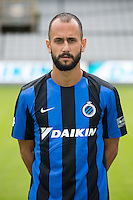 Club's Victor Vazquez Solsona poses for the photographer during the 2015-2016 season photo shoot of Belgian first league soccer team Club Brugge, Friday 17 July 2015 in Brugge