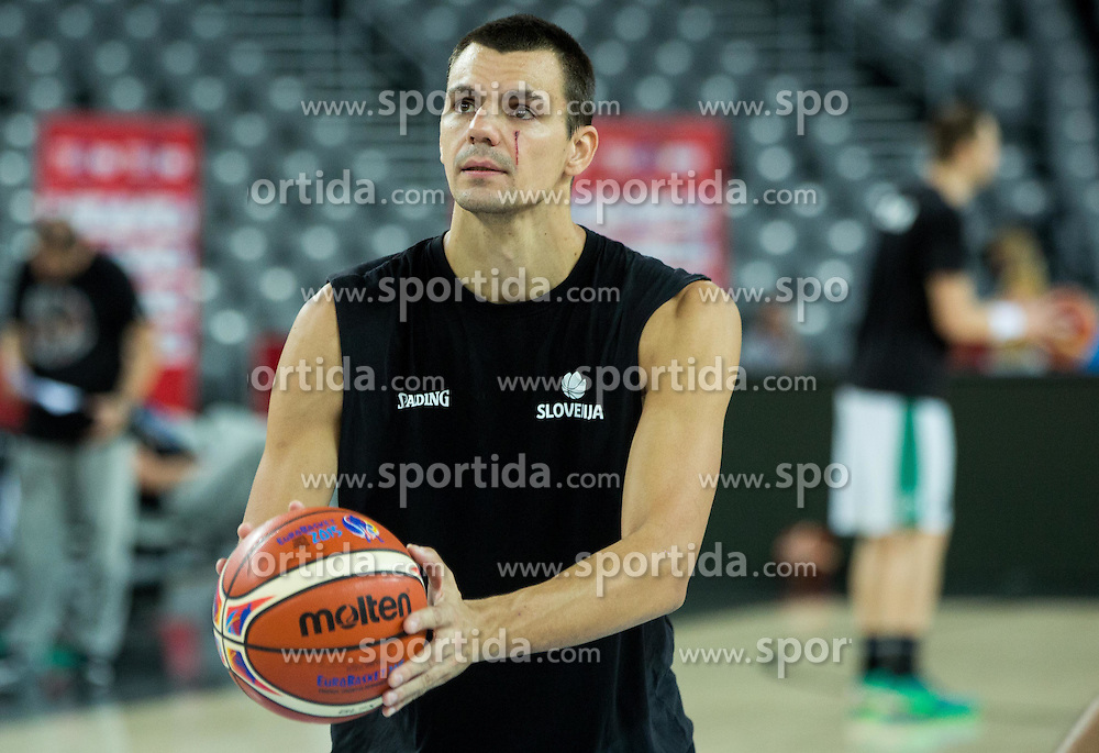 Jure Balazic of Slovenia  during practice session of Team Slovenia at Day 3 in Group C of FIBA Europe Eurobasket 2015, on September 7, 2015, in Arena Zagreb, Croatia. Photo by Vid Ponikvar / Sportida