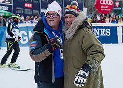 20.01.2018, Hahnenkamm, Kitzbühel, AUT, FIS Weltcup Ski Alpin, Kitzbuehel, Kitz Charity Trophy, im Bild v.l.: Gerri Freidle, Gregor Bloeb // f.l.: Gerri Freidle Gregor Bloeb during the Kitz Charity Trophy of the FIS Ski Alpine World Cup at the Hahnenkamm in Kitzbühel, Austria on 2018/01/20. EXPA Pictures © 2018, PhotoCredit: EXPA/ Stefan Adelsberger