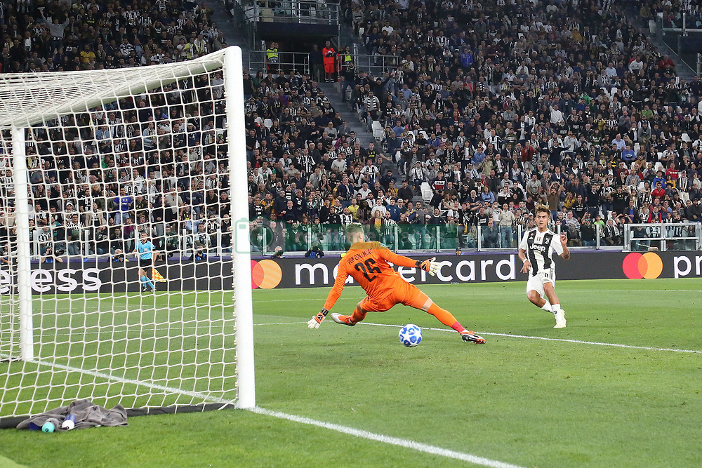 October 2, 2018 - Turin, Piedmont, Italy - Paulo Dybala (Juventus FC)  scores his second goal during the Juventus FC UEFA Champions League match between Juventus FC and Berner Sport Club Young Boys at Allianz Stadium on October 02, 2018 in Turin, Italy..Juventus won 3-0 over Young Boys. (Credit Image: © Massimiliano Ferraro/NurPhoto/ZUMA Press)
