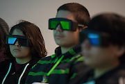 Reagan High School students tour the Hive, a high tech collaboration facility at BP's Westlake campus, February 12, 2014.