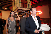 MASHA MARKOVA WITH HER HUSBAND ROBERT HANSON, Opening of Love is what you want. Exhibition of work by Tracey Emin. Hayward Gallery. Southbank Centre. London. 16 May 2011. <br /> <br />  , -DO NOT ARCHIVE-© Copyright Photograph by Dafydd Jones. 248 Clapham Rd. London SW9 0PZ. Tel 0207 820 0771. www.dafjones.com.