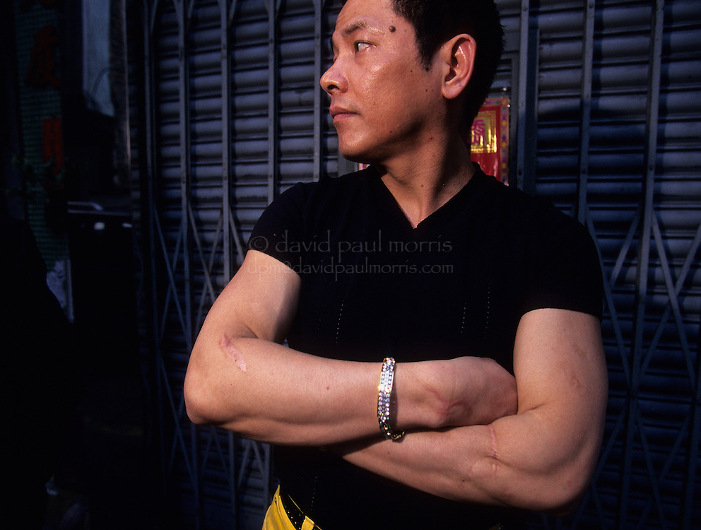 MACAU, CHINA - MAY 13:  Macau triad boss Wan Kuok-koi also known as 'Broken Tooth' is seen on the streets and in his home in Macau, China. (Photo by David Paul Morris)
