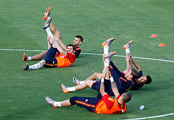 10.06.2010, Sportanlage, Potchefstroom, RSA, FIFA WM 2010, Training Spanien im Bild Spain's Gerard Pique, Iker Casillas, Jesus Navas, Sergio Ramos and Victor Valdes, EXPA Pictures © 2010, PhotoCredit: EXPA/ Alterphotos/ Acero / SPORTIDA PHOTO AGENCY