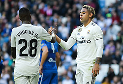 December 6, 2018 - Madrid, Madrid, Spain - Mariano and Vinicius Jr. of Real Madrid in action during the King Throphy Spanish Championship,  football match between Real Madrid and Melilla on December 06, 2018 at Santiago Bernabeu stadium  in Madrid, Spain. (Credit Image: © AFP7 via ZUMA Wire)