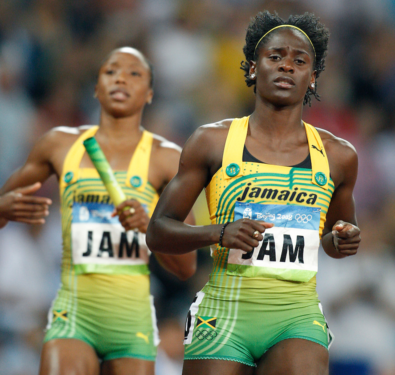 2008 Beijing Olympic Games- August 22nd, 2008 - Evening *** Jamaica women's 4x100m relay *** Day 8