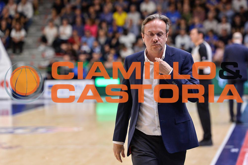Federico Pasquini<br /> Banco di Sardegna Dinamo Sassari - Dolomiti Energia Aquila Basket Trento<br /> Legabasket Serie A LBA Poste Mobile 2016/2017<br /> Playoff Quarti Gara3<br /> Sassari 16/05/2017<br /> Foto Ciamillo-Castoria