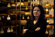 WESTBY, WI — DECEMBER 9: Brenda Jensen, owner of Hidden Springs Creamery, poses for a portrait outside a climate-controlled cheese aging room. Jensen and Hidden Springs Creamery have won numerous National and International awards for their sheep cheeses.