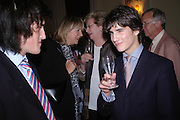 Cousins: James de Lisle and Rupert de Lisle. Book party to celebrate the publication of ' How the King of Scots Won the Throne of England in 1603 by Leanda de Lisle. St. Wilfred's Hall. Brompton Oratory. London. 9 May 2005. ONE TIME USE ONLY - DO NOT ARCHIVE  © Copyright Photograph by Dafydd Jones 66 Stockwell Park Rd. London SW9 0DA Tel 020 7733 0108 www.dafjones.com