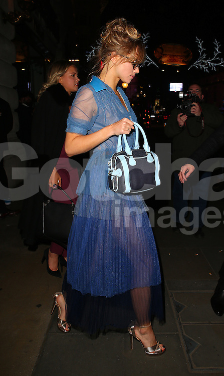 Suki Waterhouse atttends the British Fashion Awards After Party at Cafe Royal in London, UK. 01/12/2014<br /> BYLINE MUST READ : JAMESY/GOTCHA IMAGES<br /> <br /> Copyright by &copy; Gotcha Images Ltd. All rights reserved.<br /> Usage of this image is conditional upon the acceptance <br /> of Gotcha Images Ltd, terms and conditions available at<br /> www.gotchaimages.com
