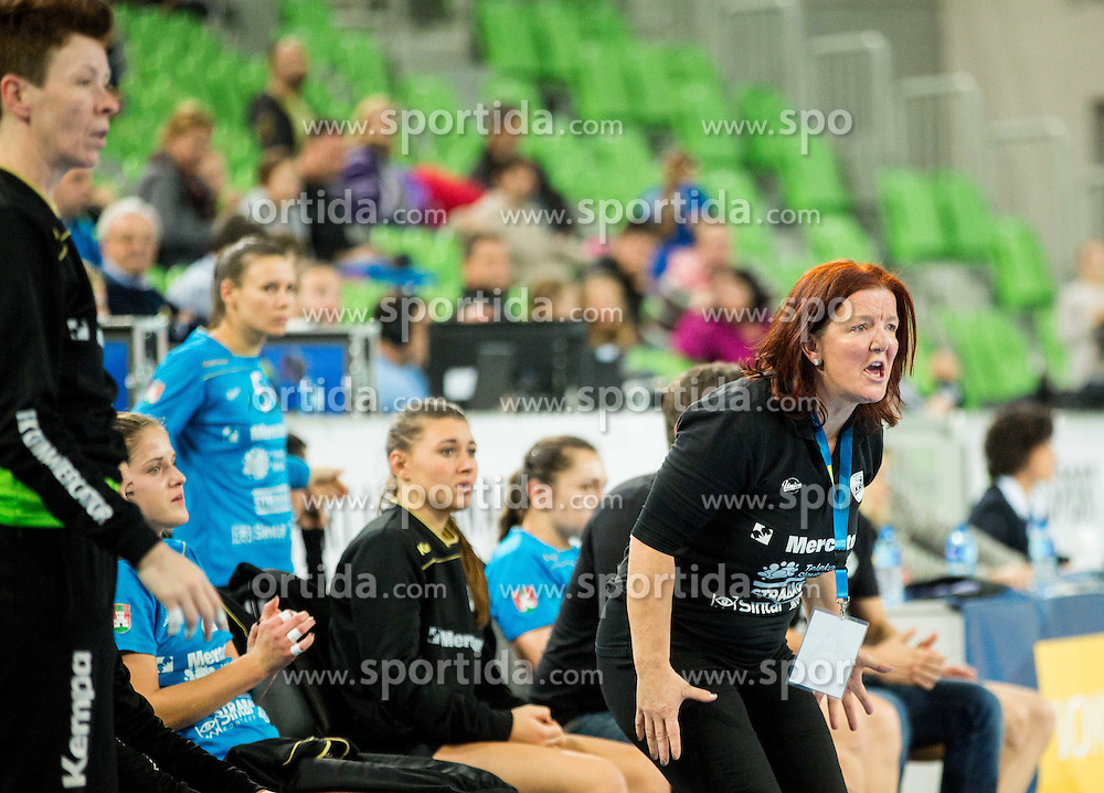 Marta Bon, head coach of Krim during handball match between RK Krim Mercator (SLO) and HC Leipzig (GER) in 6th Round of Women's EHF Champions League 2014/15, on November 21, 2014 in Arena Stozice, Ljubljana, Slovenia. Photo by Vid Ponikvar / Sportida