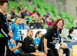 Marta Bon, head coach of Krim during handball match between RK Krim Mercator (SLO) and HC Leipzig (GER) in 6th Round of Women's EHF Champions League 2014/15, on November 21, 2014 in Arena Stozice, Ljubljana, Slovenia. Photo by Vid Ponikvar / Sportida