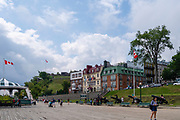 Outside of the Chateau Frontenac, looking toward the Citadelle de Quebec,  Quebec, Canada.