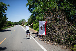 A roadside spectators during Stage 1 of the Amgen Tour of California - a 124 km road race, starting and finishing in Elk Grove on May 17, 2018, in California, United States. (Photo by Balint Hamvas/Velofocus.com)