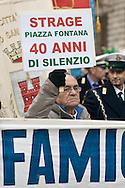 Milano, 40esimo anniversario della strage di Piazza Fontana, 12 dicembre 2009. Manifestazione istituzionale. Parenti delle vittime.