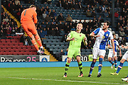 Blackburn Rovers GoalKeeper, Jason Steele (1) saves during the EFL Sky Bet Championship match between Blackburn Rovers and Wolverhampton Wanderers at Ewood Park, Blackburn, England on 29 October 2016. Photo by Mark Pollitt.