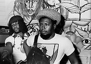 Sly and Robbie during the Don't Look Back video shoot - Kingston jamaica - 1978