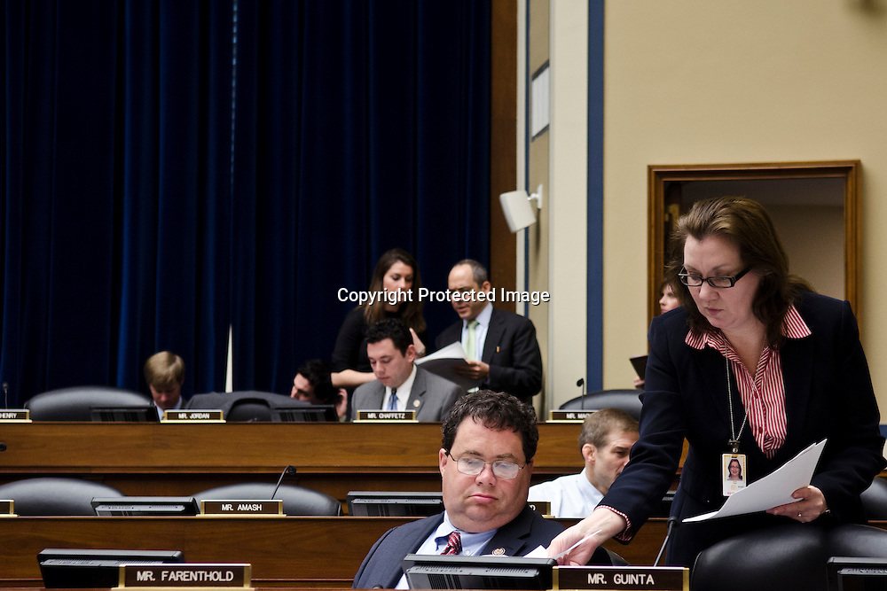 Representative Blake Farenthold(R-TX) listens during a House Committee on Oversight and Government Reform markup on current legislation in the Rayburn House Office Building in Washington DC on April 13, 2011. Photo by Kris Connor