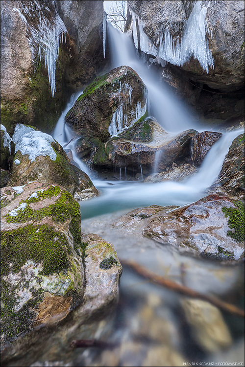 The Myra Falls in winter - not far from Vienna.