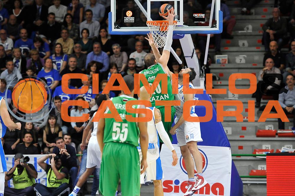 DESCRIZIONE : Eurolega Euroleague 2014/15 Gir.A Dinamo Banco di Sardegna Sassari - Unics Kazan<br /> GIOCATORE : Dmitry Sokolov<br /> CATEGORIA : Schiacciata Controcampo<br /> SQUADRA : Unics Kazan<br /> EVENTO : Eurolega Euroleague 2014/2015<br /> GARA : Dinamo Banco di Sardegna Sassari - Unics Kazan<br /> DATA : 04/12/2014<br /> SPORT : Pallacanestro <br /> AUTORE : Agenzia Ciamillo-Castoria / Luigi Canu<br /> Galleria : Eurolega Euroleague 2014/2015<br /> Fotonotizia : Eurolega Euroleague 2014/15 Gir.A Dinamo Banco di Sardegna Sassari - Unics Kazan<br /> Predefinita :