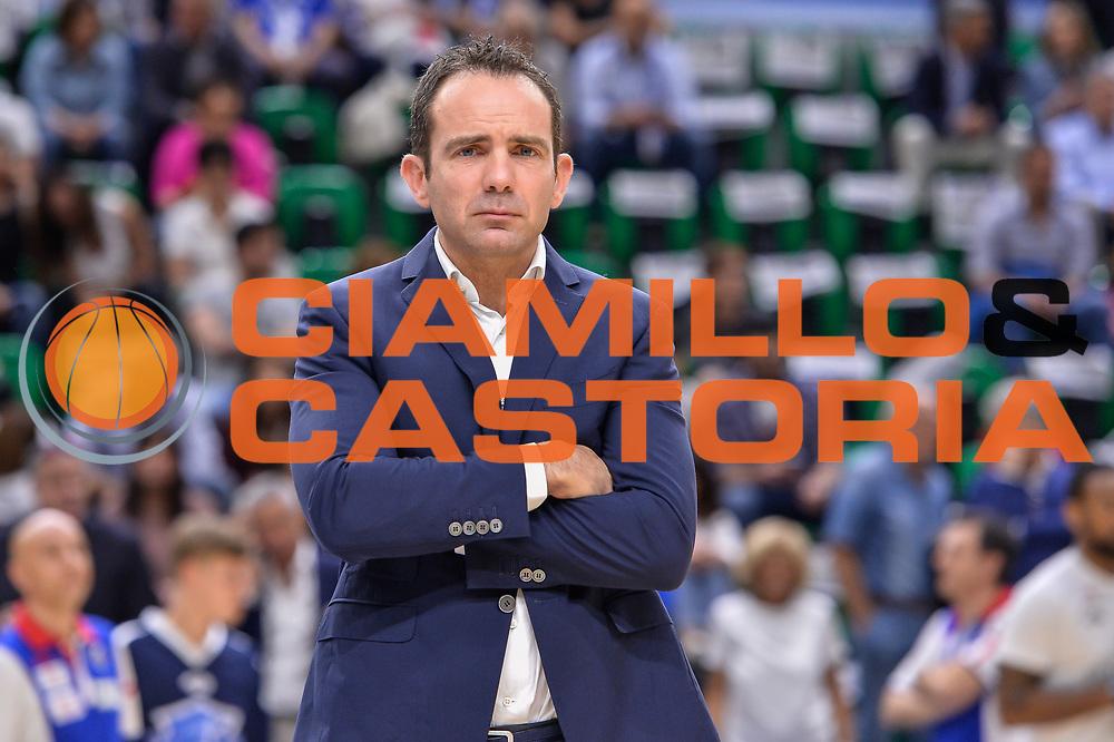 Paolo Citrini<br /> Banco di Sardegna Dinamo Sassari - Dolomiti Energia Aquila Basket Trento<br /> Legabasket Serie A LBA Poste Mobile 2016/2017<br /> Playoff Quarti Gara3<br /> Sassari 16/05/2017<br /> Foto Ciamillo-Castoria