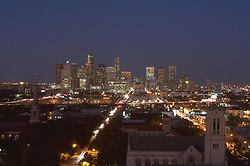 elevated view of downtown Houston from the southern end