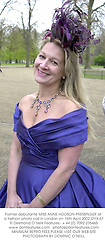 Former debutante MISS ANNE HODSON-PRESSINGER at a fashion photo call in London on 15th April 2002.	OYX 67