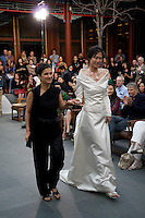Kathrin von Rechenberg, German Beijing-based fashion designer at a fashion show in the Summer palace, Beijing, China.