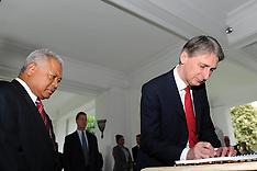 JAN 16 2013 Philip Hammond  visit to Jakarta, Indonesia