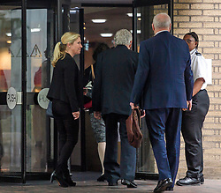 © Licensed to London News Pictures. 22/05/2017. London, UK.  Entertainer ROLF HARRIS (centre) arrives at Southwark Crown Court in London. Harris, who was jailed on twelve counts of indecent assault on four female victims in 2012, is now standing trial accused of further indecent assaults. Photo credit: Ben Cawthra/LNP